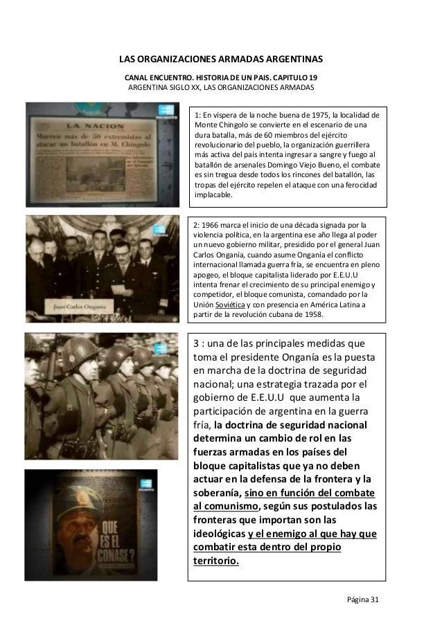 LAS ORGANIZACIONES ARMADAS ARGENTINAS CANAL ENCUENTRO. HISTORIA DE UN PAIS. CAPITULO 19 ARGENTINA SIGLO XX, LAS ORGANIZACI...