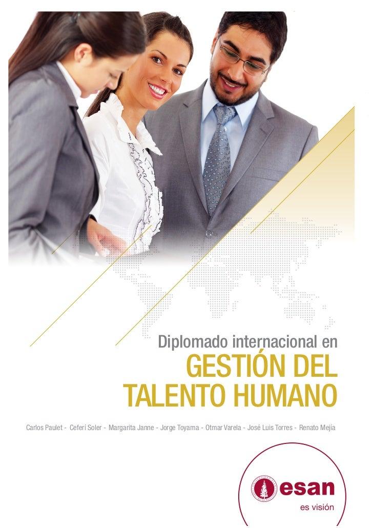 Diplomado internacional en                                      GESTIÓN DEL                                  TALENTO HUMAN...