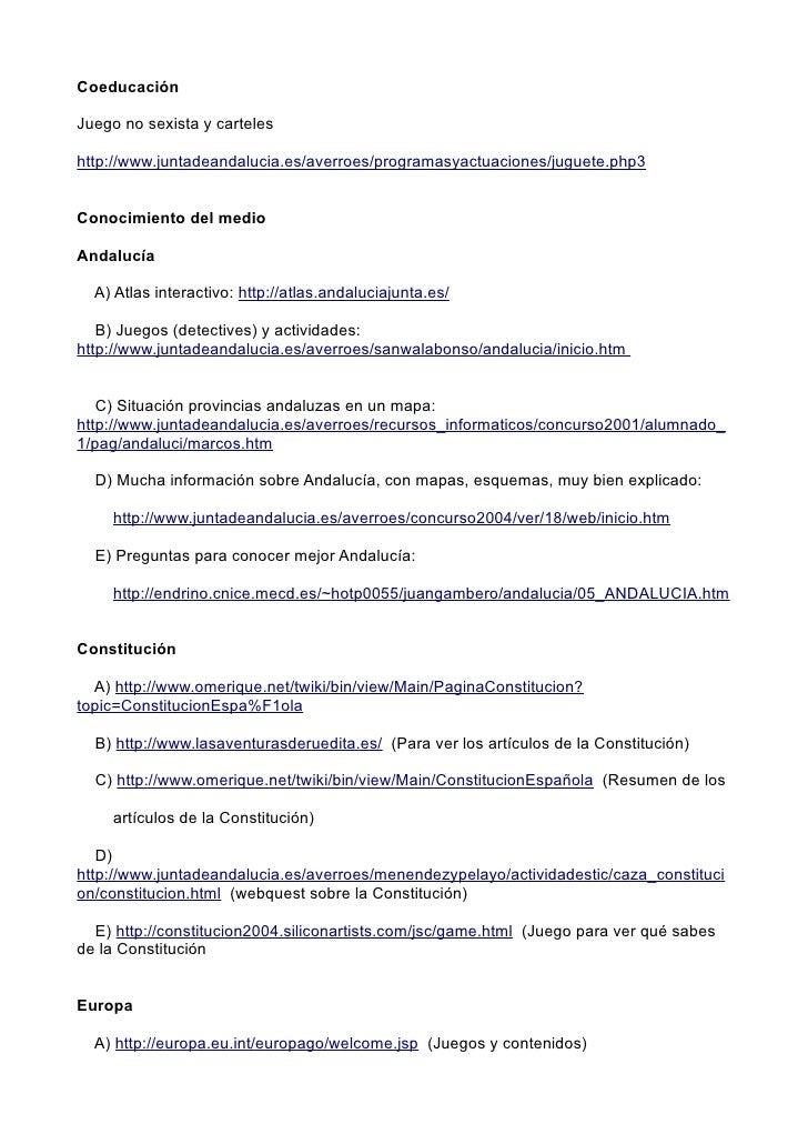 Coeducación  Juego no sexista y carteles  http://www.juntadeandalucia.es/averroes/programasyactuaciones/juguete.php3   Con...