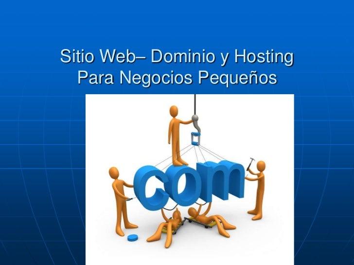 Paginas Web Hosting