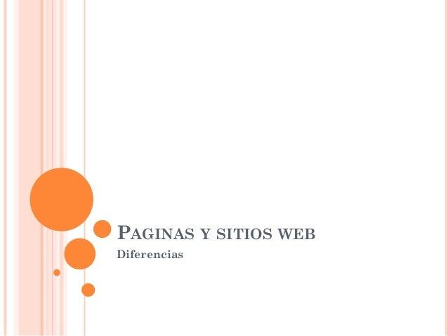 PAGINAS Y SITIOS WEBDiferencias