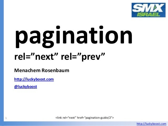 "pagination    rel=""next"" rel=""prev""    Menachem Rosenbaum    http://luckyboost.com    @luckyboost1                        ..."