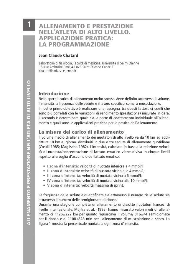 11-02-2008  11:41  Pagina 8  1 ALLENAMENTO E PRESTAZIONE NELL'ATLETA DI ALTO LIVELLO. APPLICAZIONE PRATICA: LA PROGRAMMAZI...