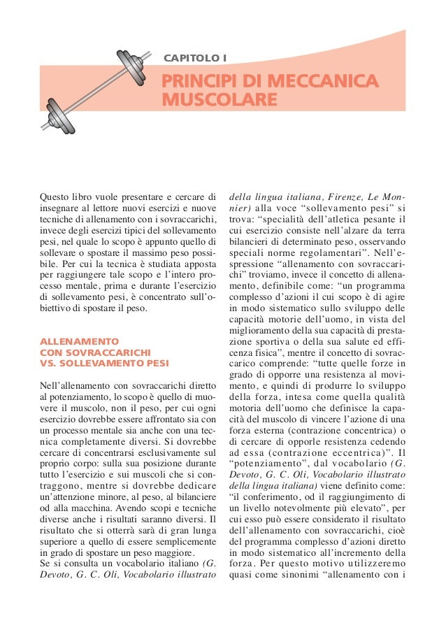 Pagine da meccanica muscolare
