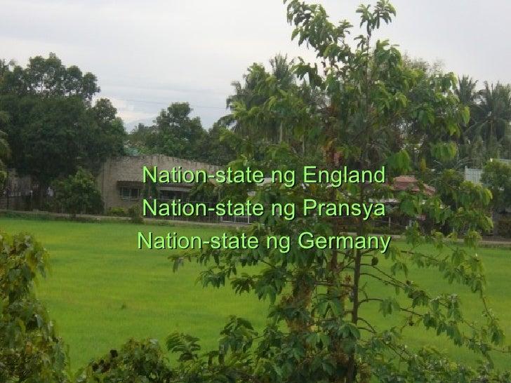 Nation-state ng England Nation-state ng Pransya Nation-state ng Germany