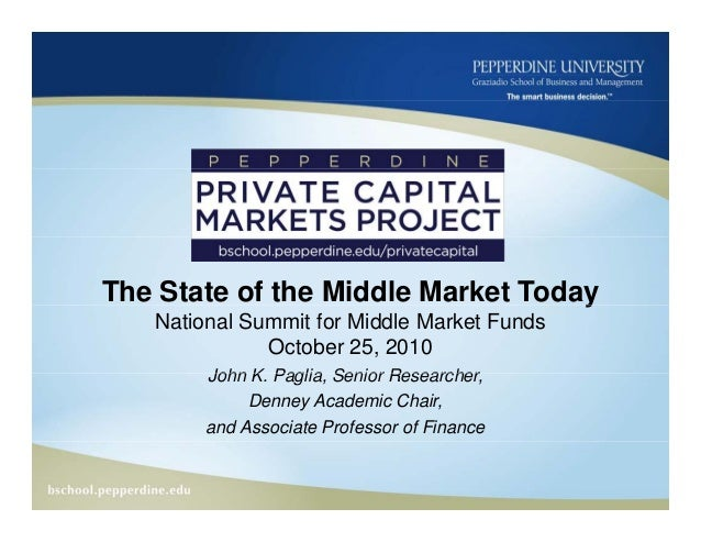State of the Middle Market Today 10.25.10