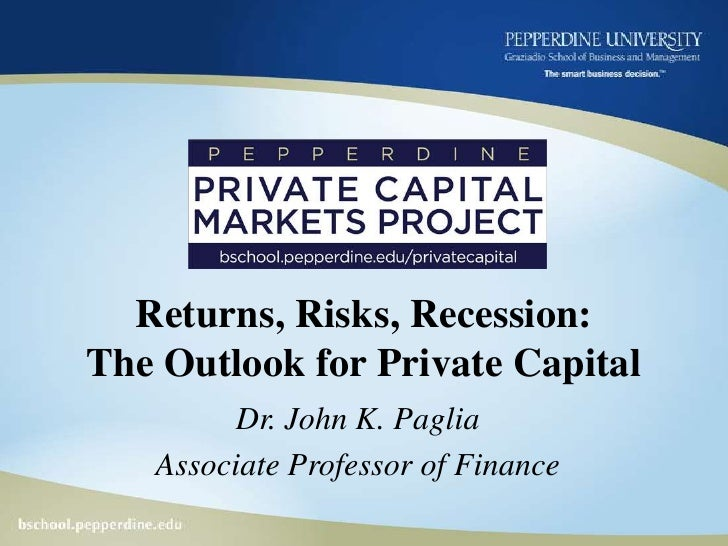 Pepperdine Private Capital Markets Project 7.28.09 R1