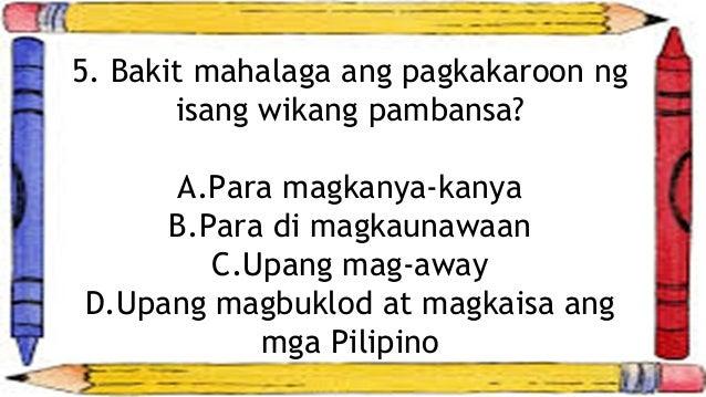 """alin ang mas mahalaga ang wikang pambansa o ang wikang pandaigdig Ang mga tagapanood at mga kasapi ng inampalan ang pipili kung alin ang karapat filipino ang wikang pambansa,"""" ngunit mahalaga ang higit na mahalaga."""