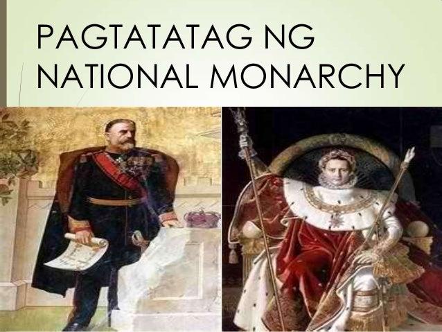 PAGTATATAG NG NATIONAL MONARCHY