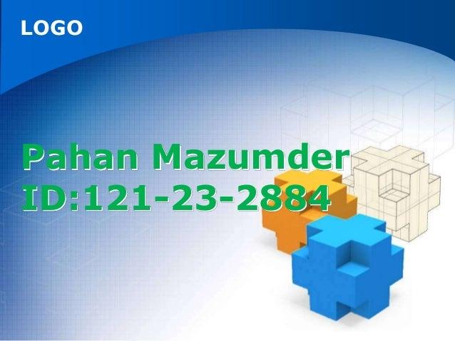 LOGO Pahan Mazumder ID:121-23-2884