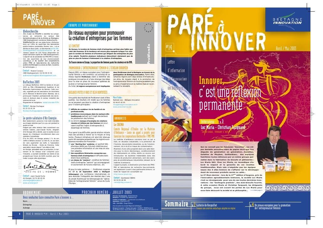 Paré à innover 14