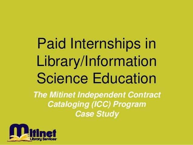 Paid internships in icc 20131213
