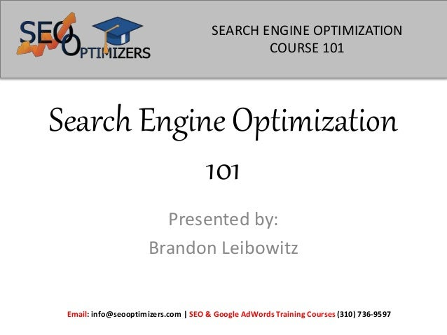Paid seo training presentation