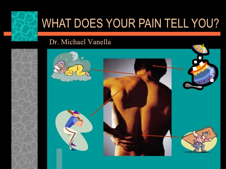 WHAT DOES YOUR PAIN TELL YOU? Dr. Michael Vanella