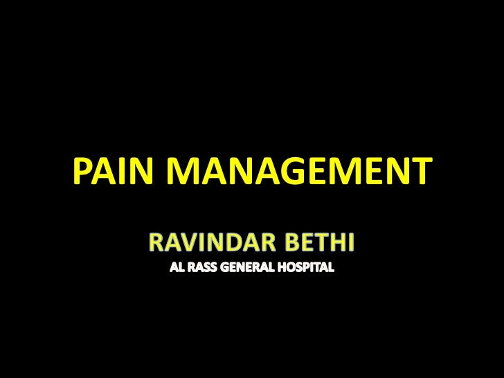 Pain lecture for icu club meeting