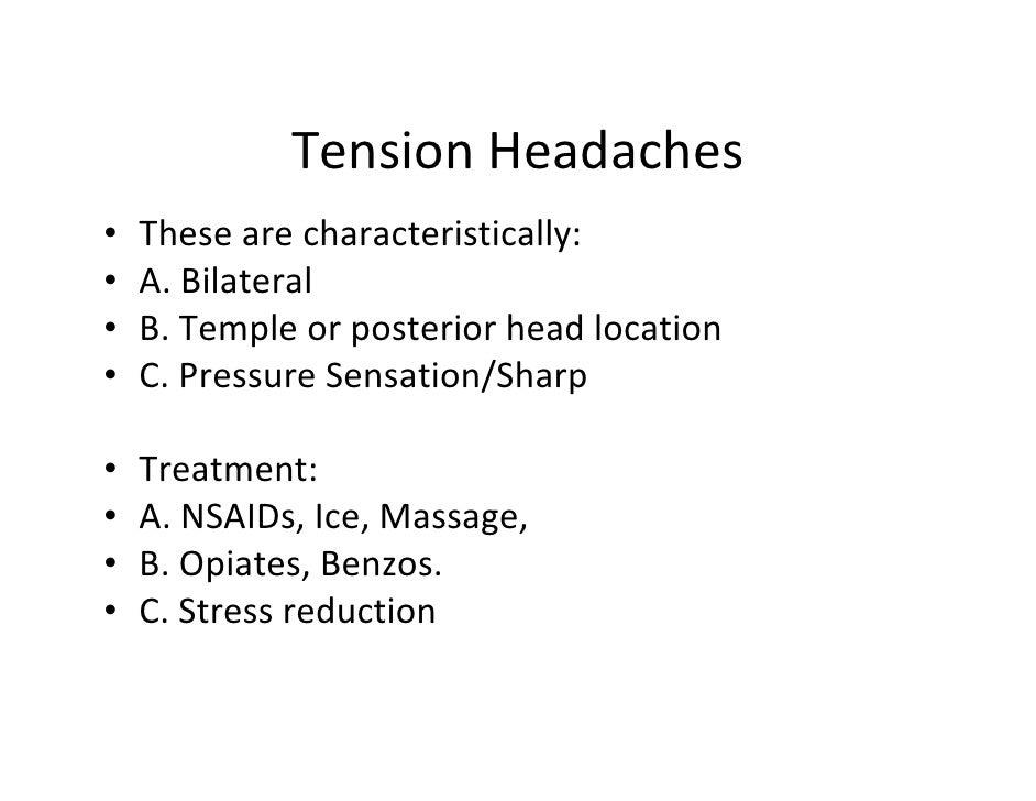 Tension Headache Brain Tension Headaches These Are