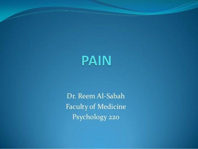 Lecture 19:Pain  Dr.Reem AlSabah