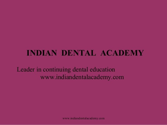 Pain & analgesics /certified fixed orthodontic courses by Indian dental academy