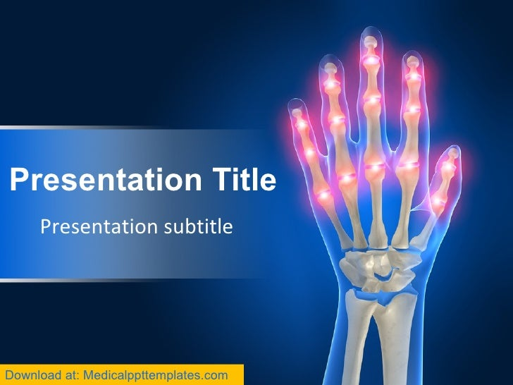 Painful hand powerpoint templates