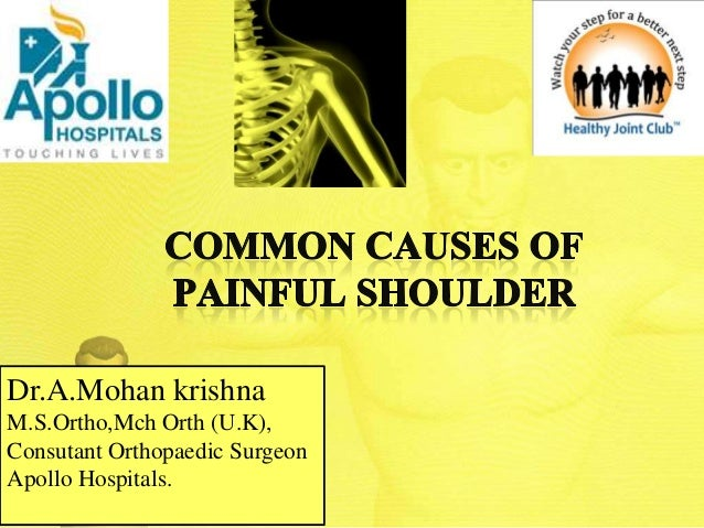Dr.A.Mohan krishna M.S.Ortho,Mch Orth (U.K), Consutant Orthopaedic Surgeon Apollo Hospitals.