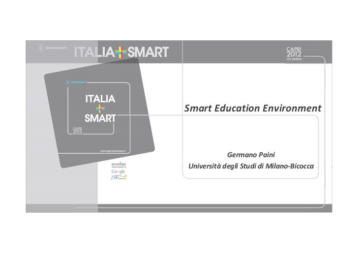 Smart Education - Germano Paini Capri 2012