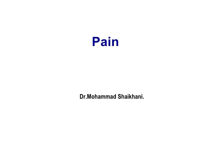 Pain Dr.Mohammad Shaikhani.