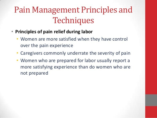 methods of pain and discomfort management Recently published articles from pain management nursing comparison of two different distraction methods affecting the level of pain and anxiety during.