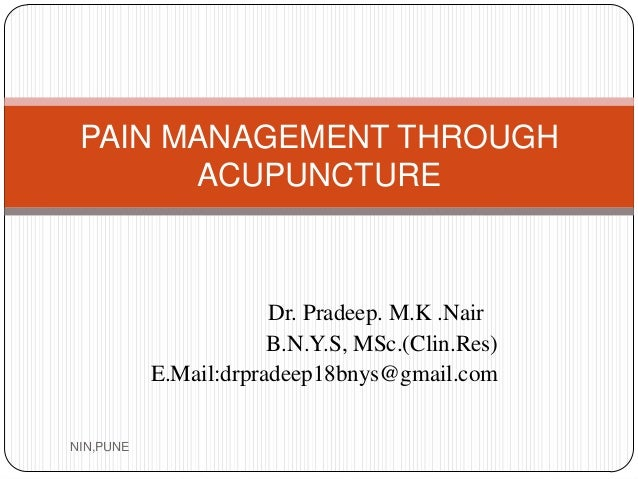 Pain management through acupuncture