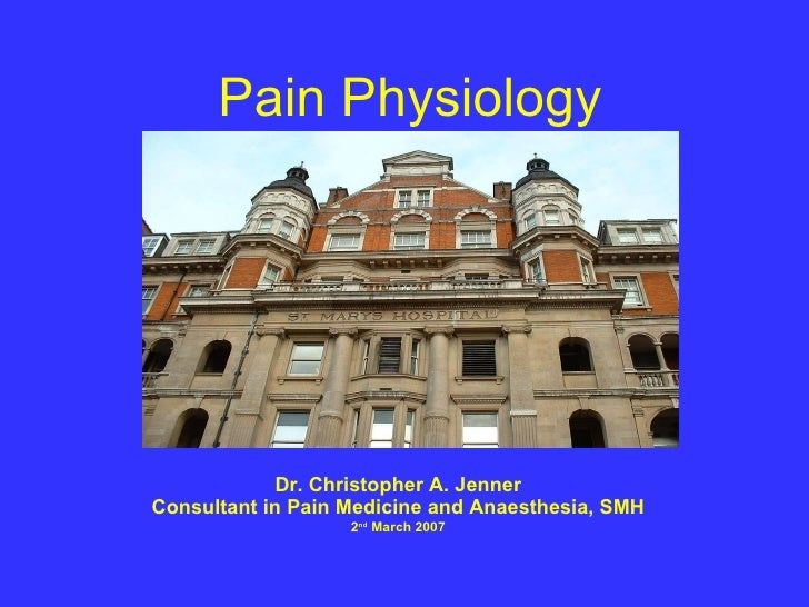 Pain Physiology Presented At St Thomases Hospital 2.3.07