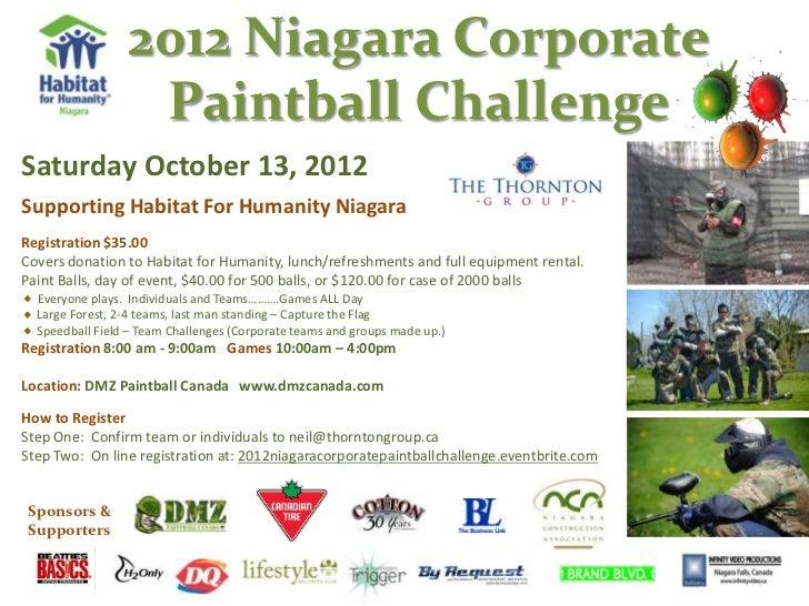 2012 Niagara Corporate Paintball Challenge