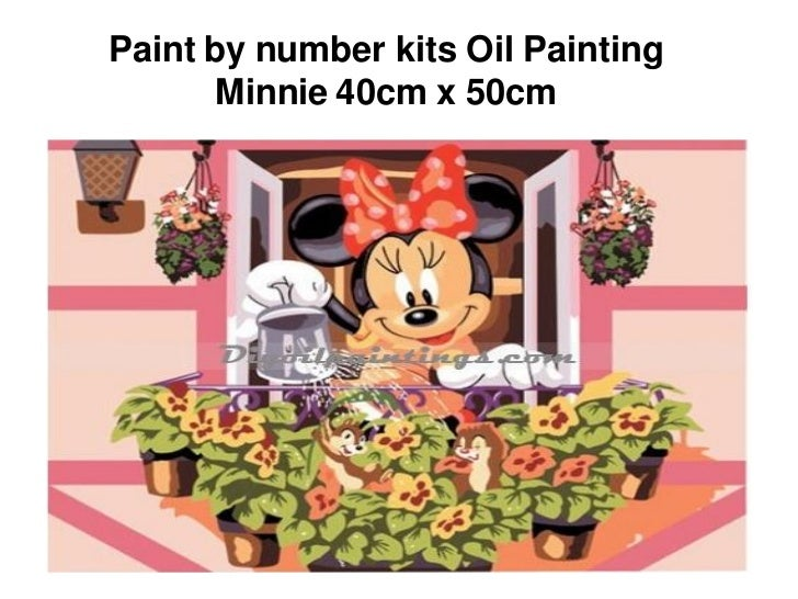 Paint by number kits Oil Painting      Minnie 40cm x 50cm