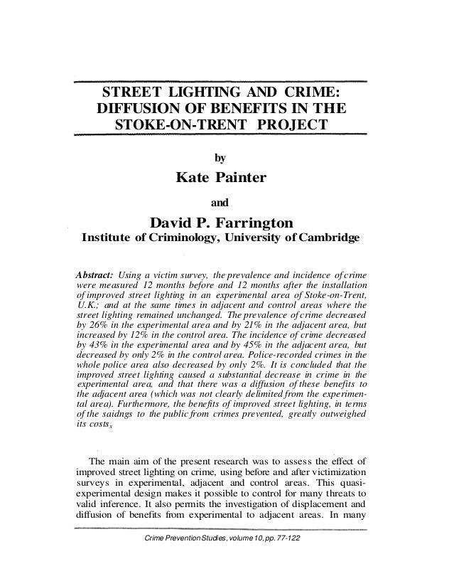 9 Painter Farrington1999 street lighting study: SITUATIONAL CRIME PREVENTION