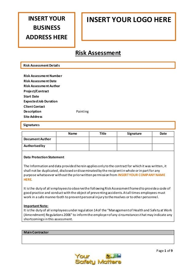 PERFORMANCE WORK STATEMENT TEMPLATE