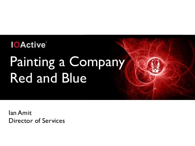 Painting a Company Red and Blue