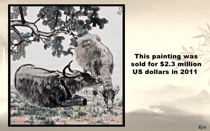 This painting wassold for $2.3 millionUS dollars in 2011                   Ren