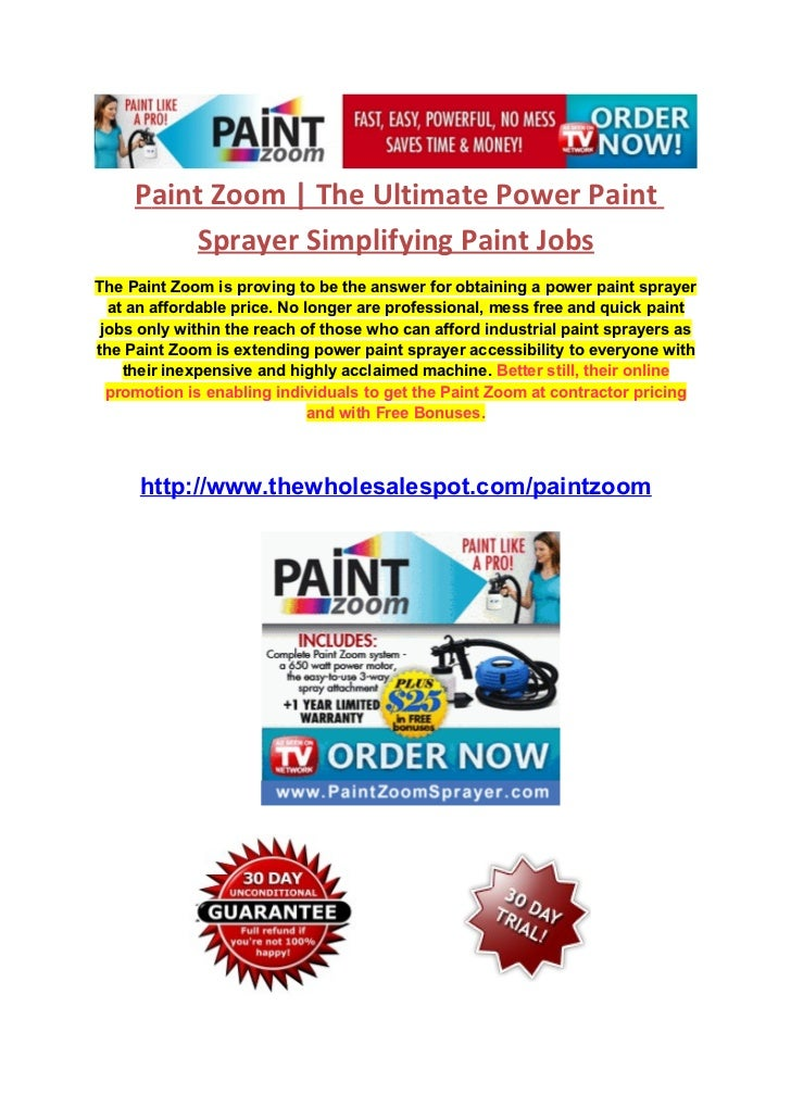 Paint Zoom | The Ultimate Power Paint         Sprayer Simplifying Paint JobsThe Paint Zoom is proving to be the answer for...