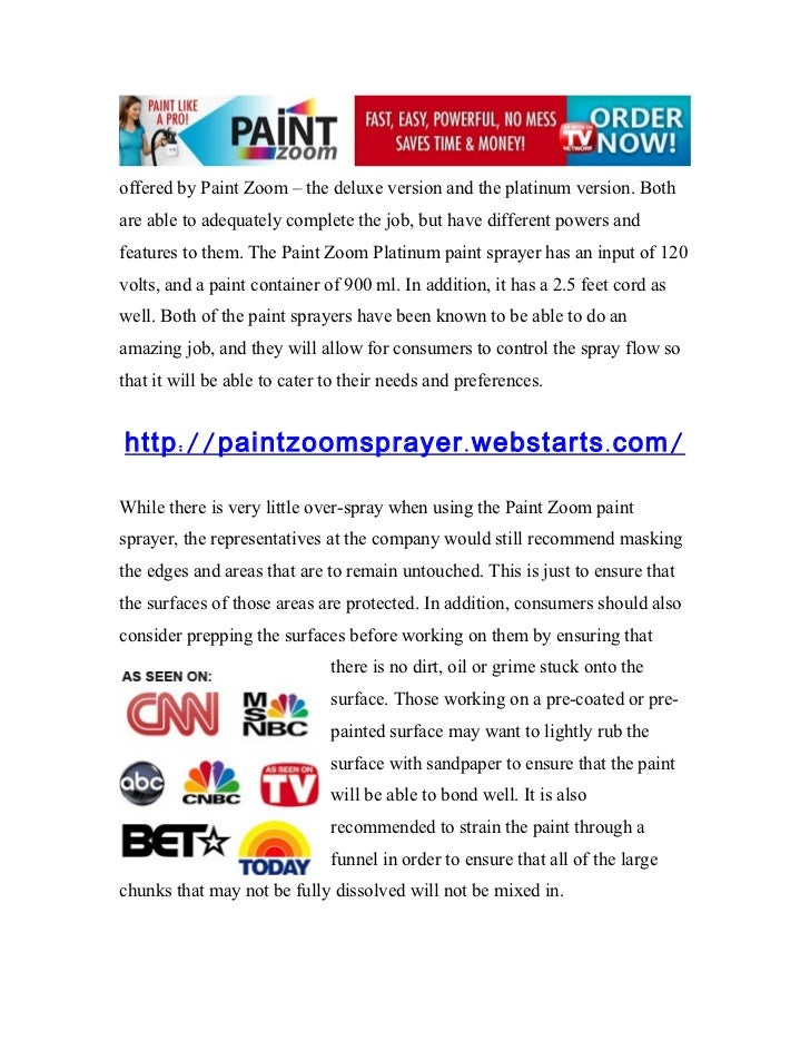 Paint Zoom The Paint Zoom Platinum Paint