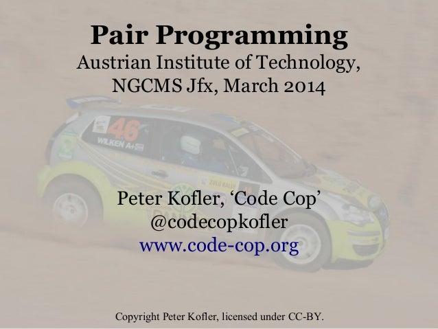 Pair Programming (2014)