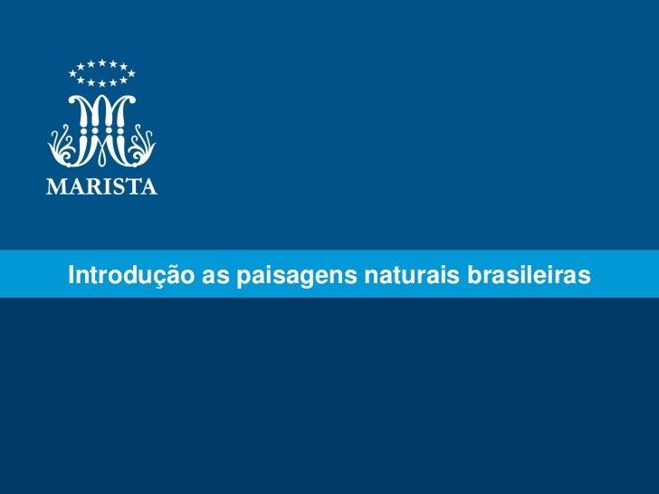 Introdução as paisagens naturais brasileiras