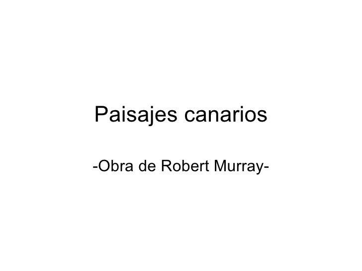 Paisajes canarios -Obra de Robert Murray-