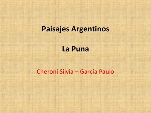 Paisajes argentinos