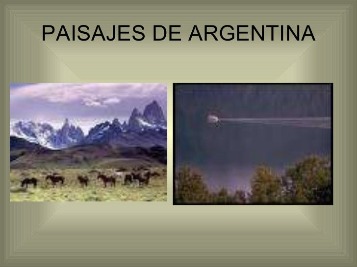 Paisajes de argentina