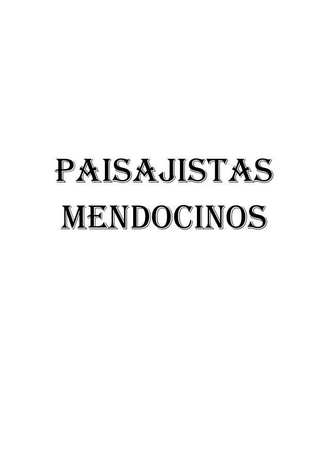 PAISAJISTAS MENDOCINOS