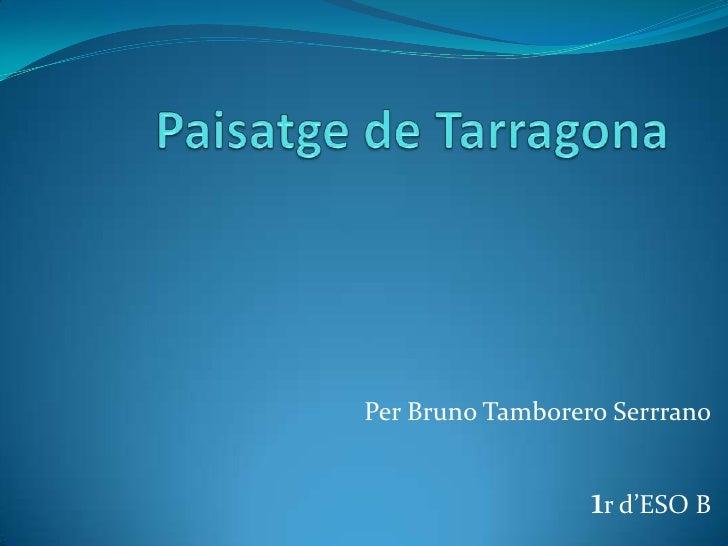 Paisatge de Tarragona<br />Per Bruno TamboreroSerrrano<br />1r d'ESO B<br />