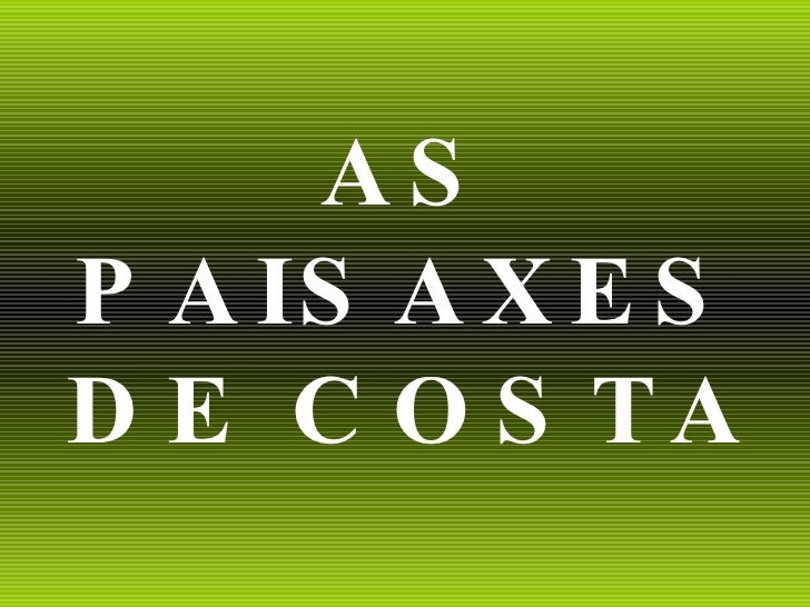 AS PAISAXES DE COSTA