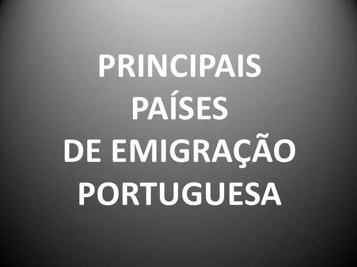 Paises De EmigraçãO Port.