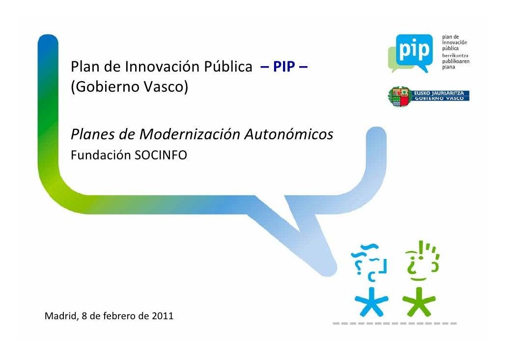 Presentación del PIP en el seminario de la Fundación SOCINFO