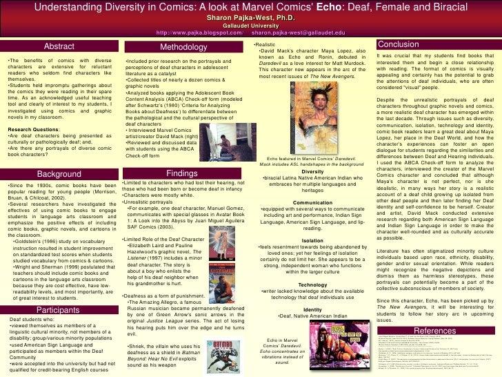 Understanding Diversity in Comics: A look at Marvel Comics' Echo: Deaf, Female and Biracial                               ...