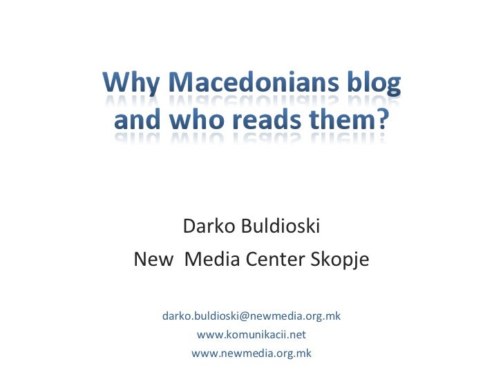 Blogosphere in Macedonia