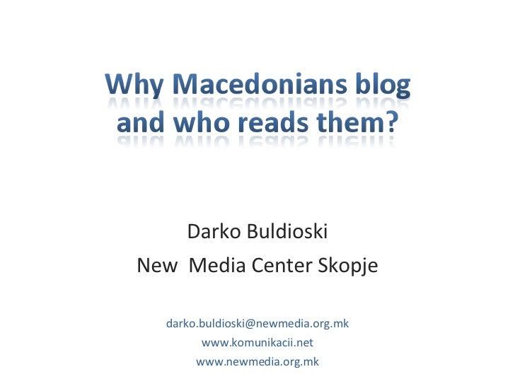 Blogosphere in Macedonia